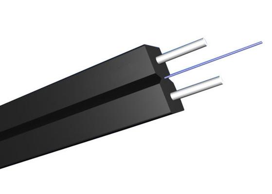 Câble d'interface plat unimodal d'intérieur de GJYXCH FTTH avec la fibre optique G657A2