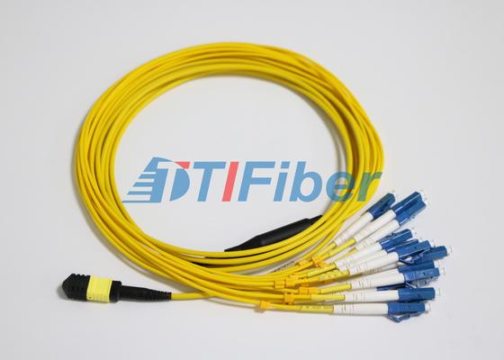 La correction de fibre du SM MTP/MPO de LC mène avec le connecteur de fibre optique d'UPC
