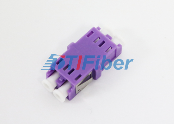 100% Test Fiber Optic Adapter OM4 LC with Purple Housing for 10G