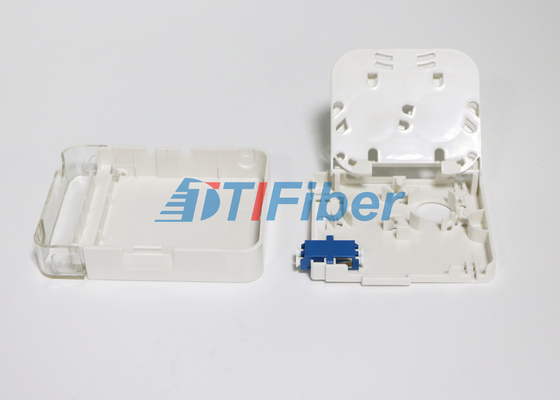 LC Duplex OM4  FTTH Fiber Optic Terminal Box Wall Mounted Fiber Optic Cable Box
